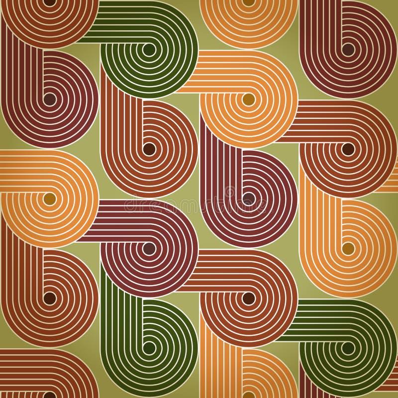 Fond sans couture avec des spirales tournantes illustration stock