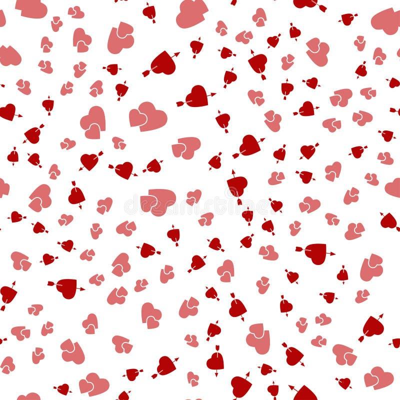 Fond sans couture avec différents coeurs colorés pour des valentines photographie stock libre de droits