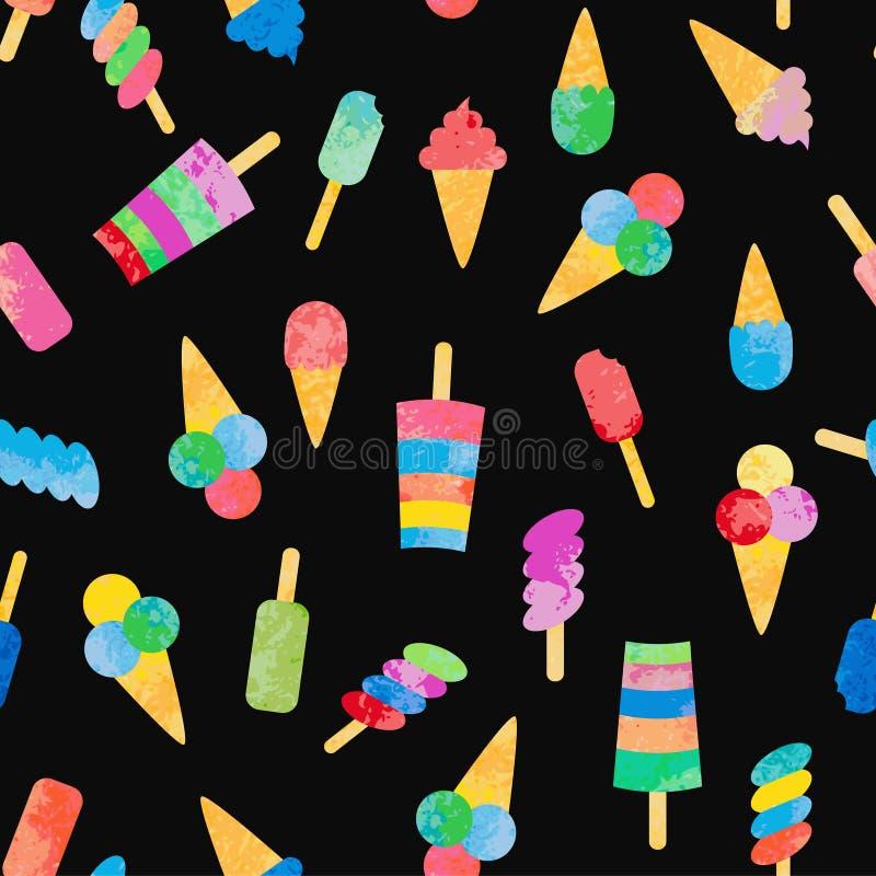 Download Fond Sans Couture Avec Différents Types De Crème Glacée Illustration de Vecteur - Illustration du froid, glace: 76078030