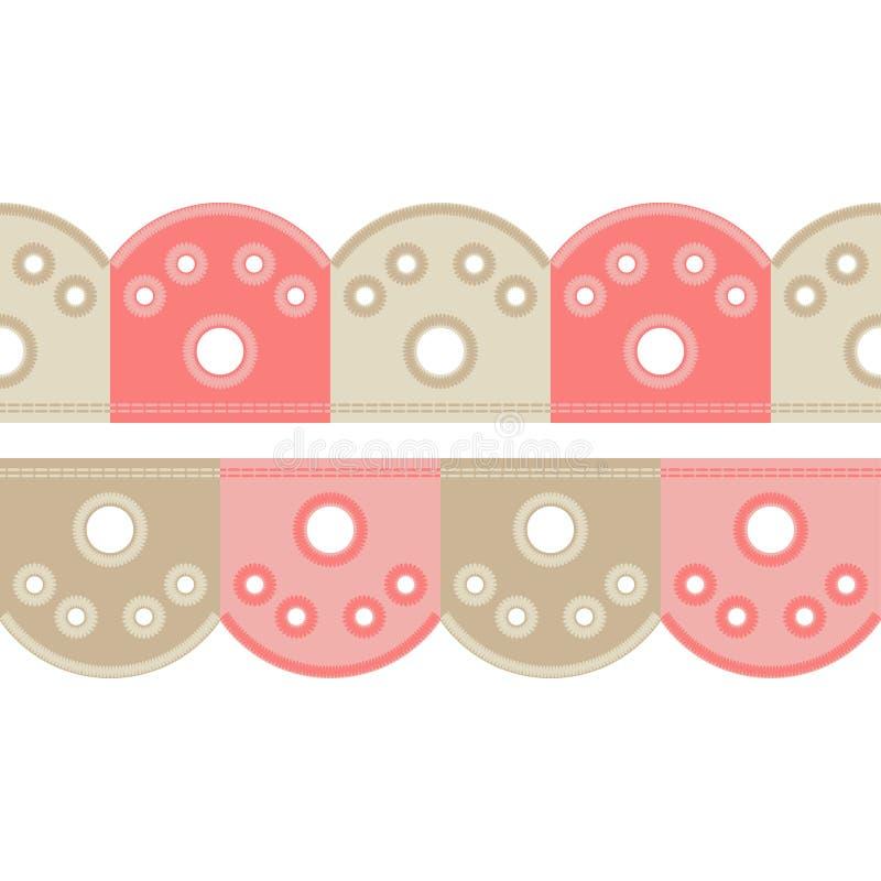 Fond sans couture avec la broderie de point de satin Ornement traditionnel Modèle rustique illustration de vecteur
