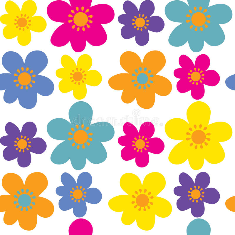 Fond sans couture avec la fleur mignonne images libres de droits