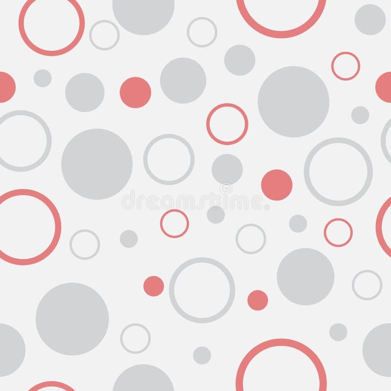 Fond sans couture avec le modèle de point de polka photo stock