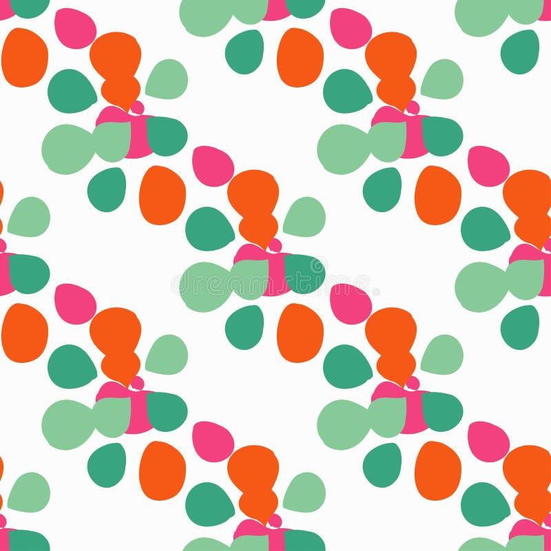 Fond sans couture avec les pétales colorés décoratifs Illustration de vecteur illustration de vecteur