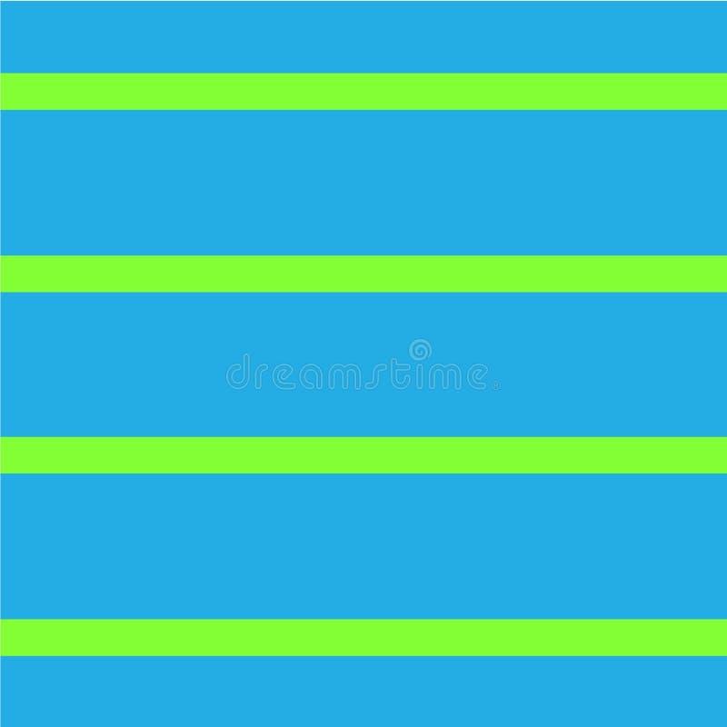 Fond sans couture avec les rayures horizontales Modèle de répétition géométrique Illustration de vecteur, illustration de vecteur