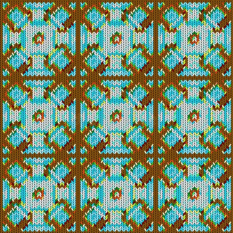 Fond sans couture avec une texture tricotée, imitation de laine Un grand choix de différents modèles illustration libre de droits