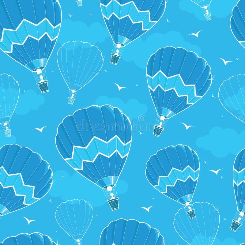 Fond sans couture chaud de modèle de ballons à air illustration stock