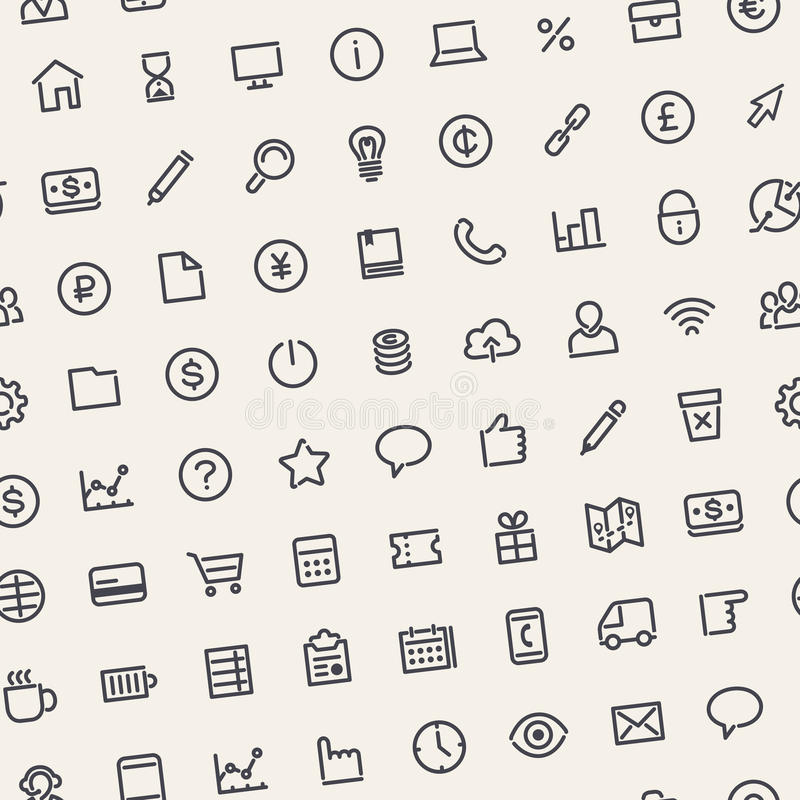 Fond sans couture clair d'affaires avec la ligne icônes illustration de vecteur