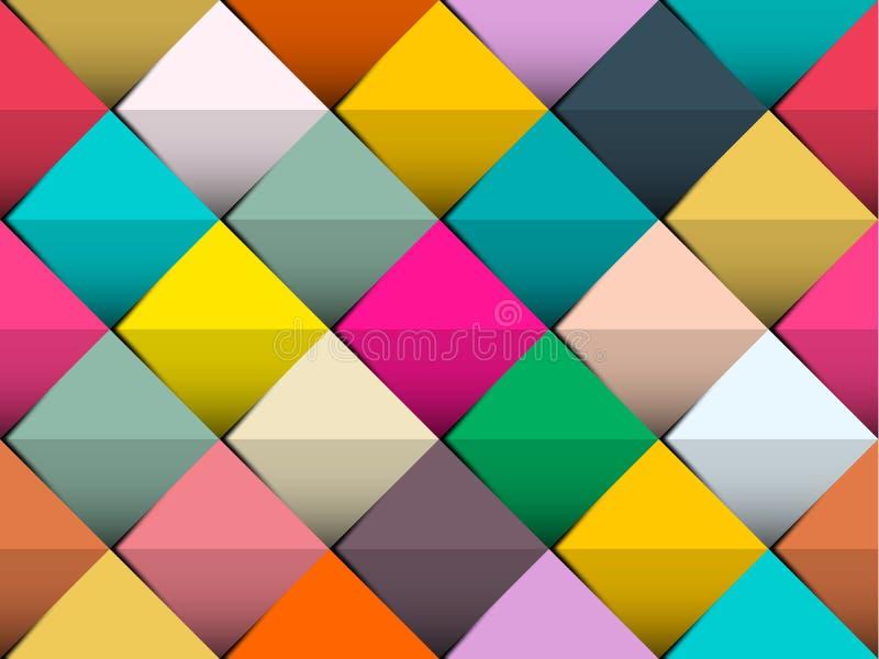 Fond sans couture coloré de vecteur avec de rétros places appropriées aux conceptions de Web ou d'impression illustration stock