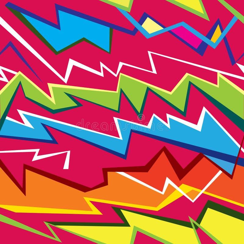 Fond sans couture d'éclairage géométrique abstrait illustration de vecteur