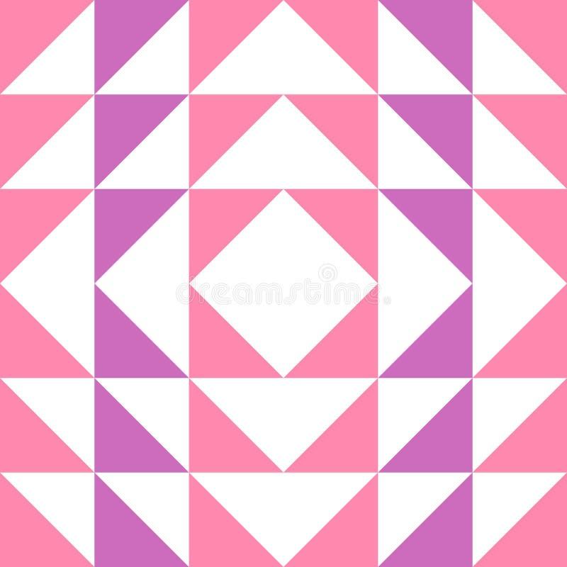 Fond sans couture d'abrégé sur modèle de triangle avec la texture géométrique pour l'écharpe à la mode illustration de vecteur