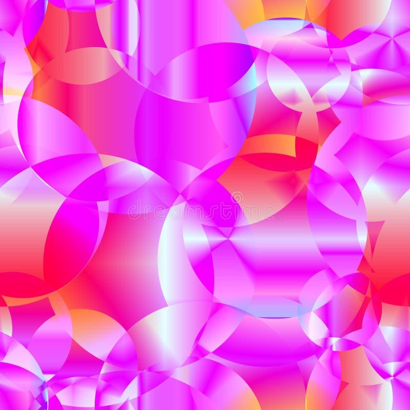 Fond sans couture d'abrégé sur vecteur de pourpre transparent cosmique illustration stock