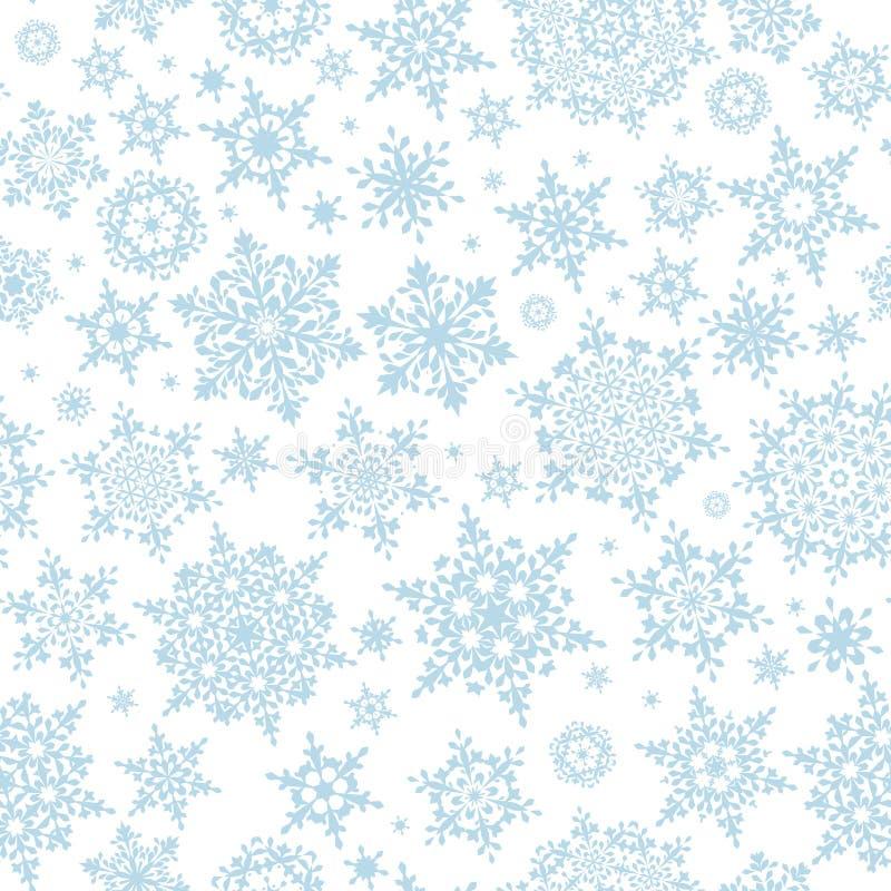 Fond sans couture d'hiver avec des flocons de neige ENV 10 illustration stock