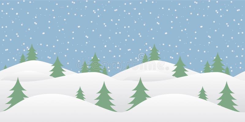 Fond sans couture d'hiver avec la neige en baisse illustration stock