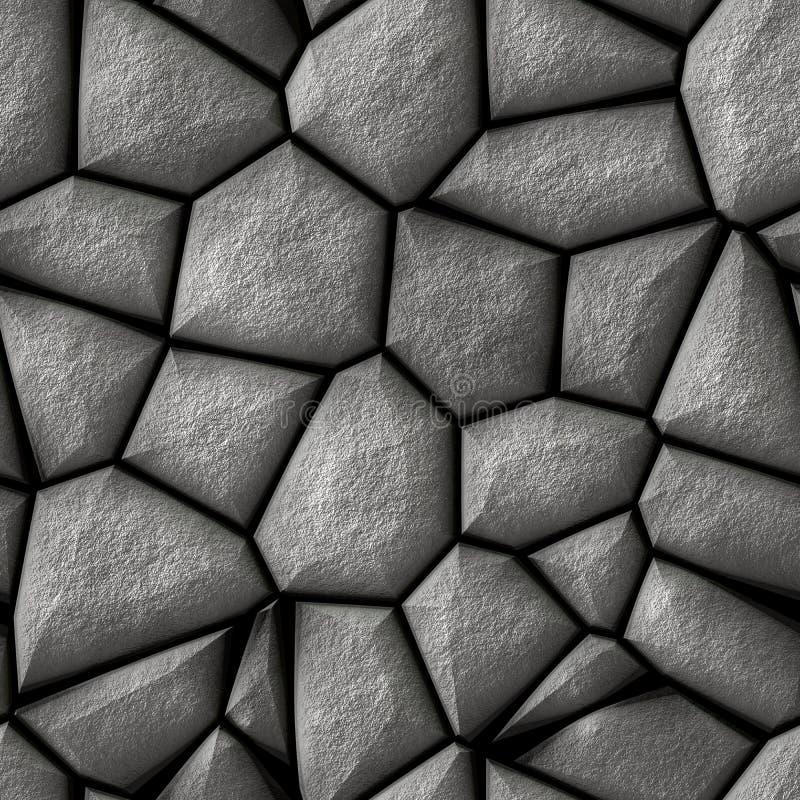 Fond sans couture d'illustration de mur de briques gris illustration libre de droits