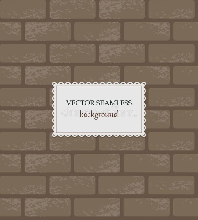 Fond sans couture de brique de vecteur illustration stock