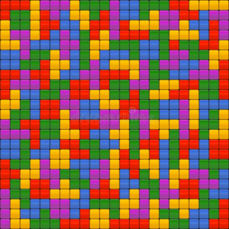 Fond sans couture de briques de Tetris Vecteur illustration libre de droits