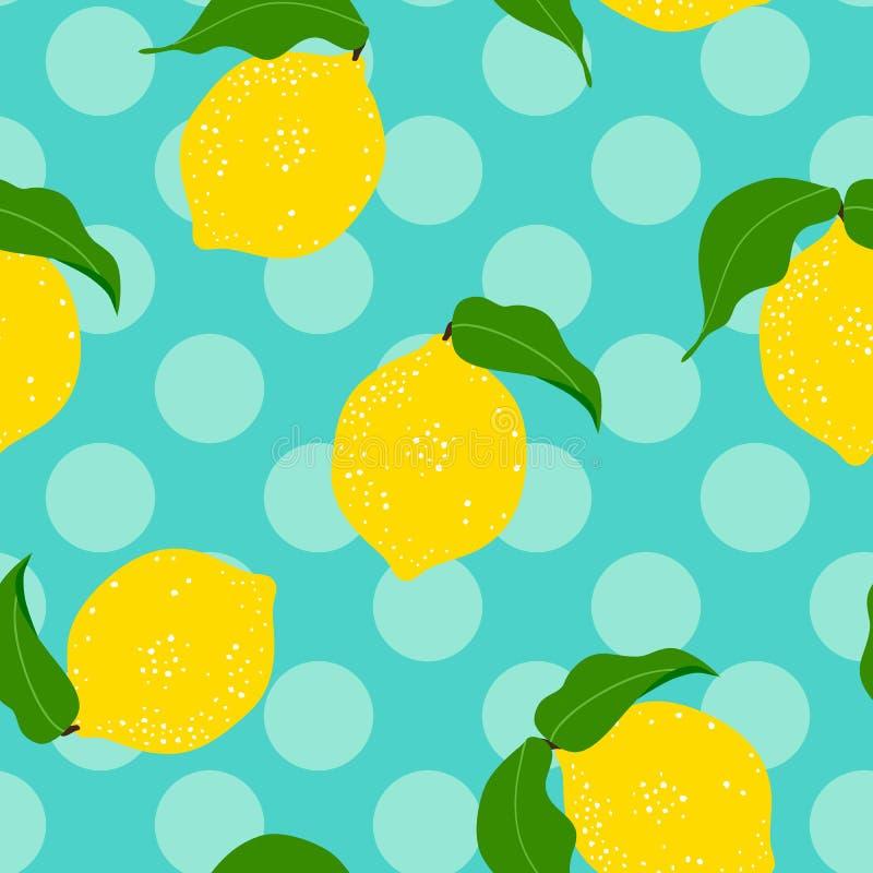 Fond sans couture de citron illustration stock