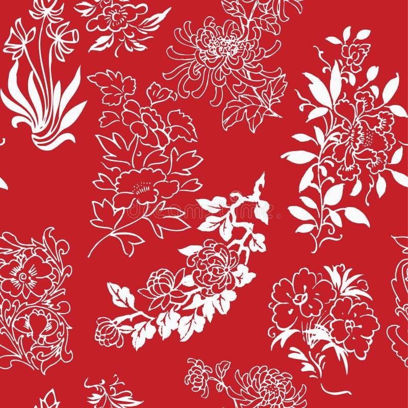 Fond sans couture de dessins de fleur illustration stock