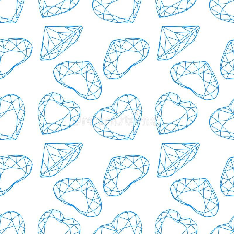 Fond sans couture de diamant de mode de vecteur illustration de vecteur