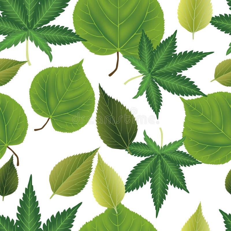 Fond sans couture de feuilles illustration de vecteur