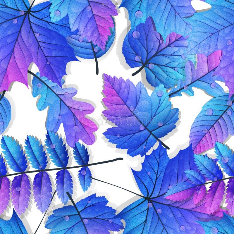 Fond sans couture de feuilles détaillées ENV 10 illustration libre de droits