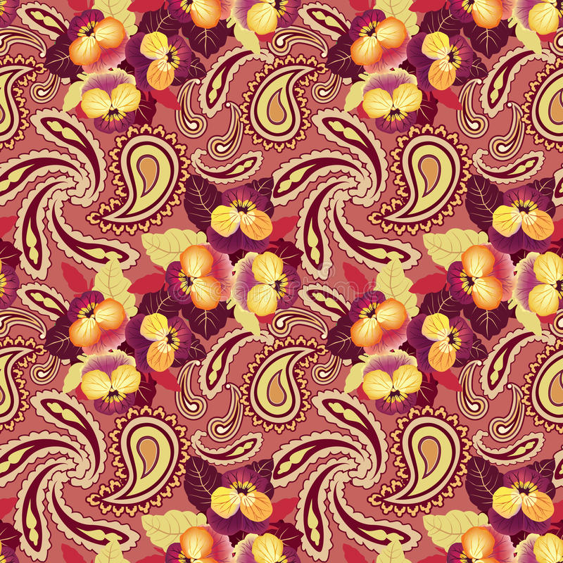 Fond sans couture de fleur. Texture abstraite de lis de fleur d'ornement. illustration de vecteur