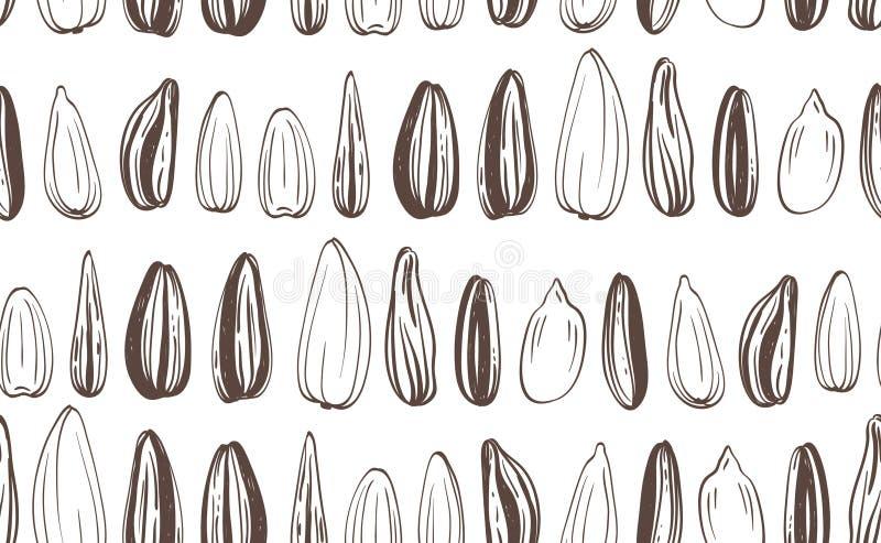 Fond sans couture de graines de tournesols illustration libre de droits