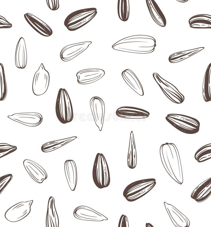 Fond sans couture de graines de tournesols illustration de vecteur