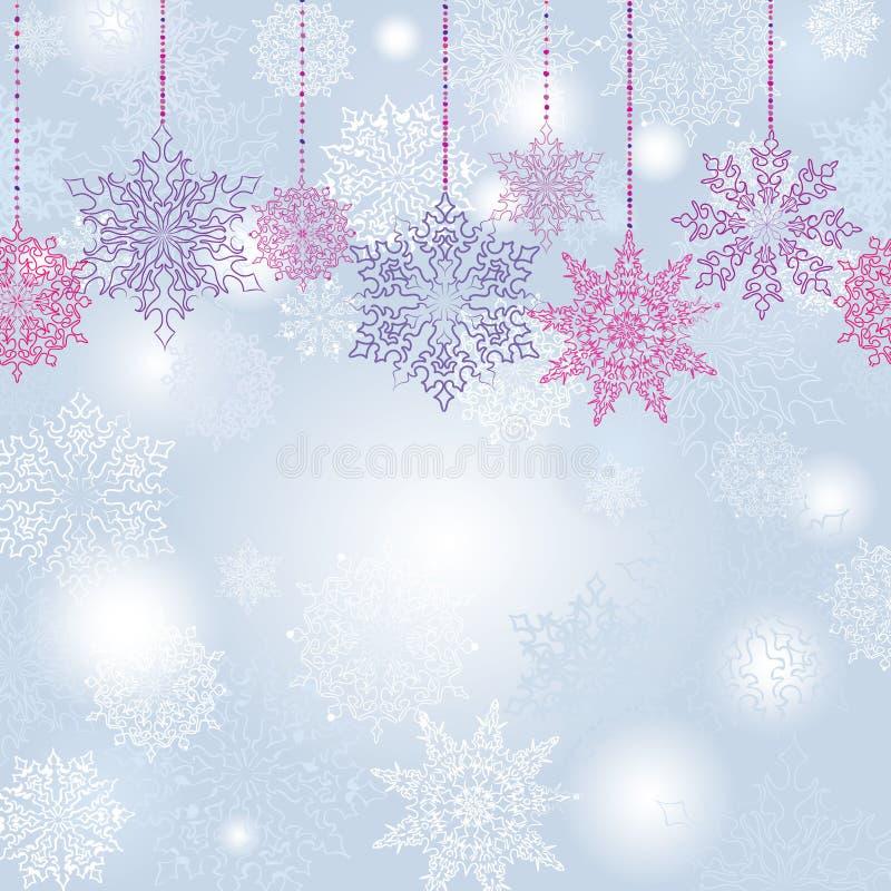 Fond sans couture de guirlande de flocons de neige illustration libre de droits