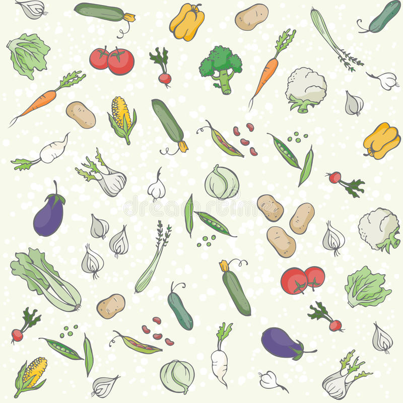 Fond sans couture de légumes illustration stock