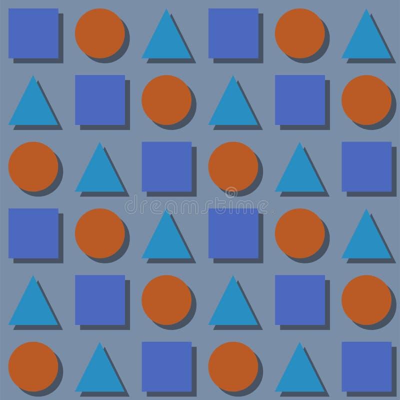Fond sans couture de modèle avec des formes géométriques, illustration colorée illustration libre de droits