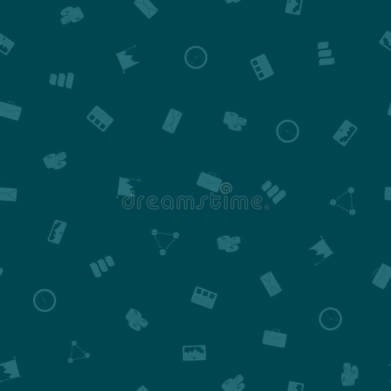 Fond sans couture de modèle d'affaires de bureau illustration de vecteur