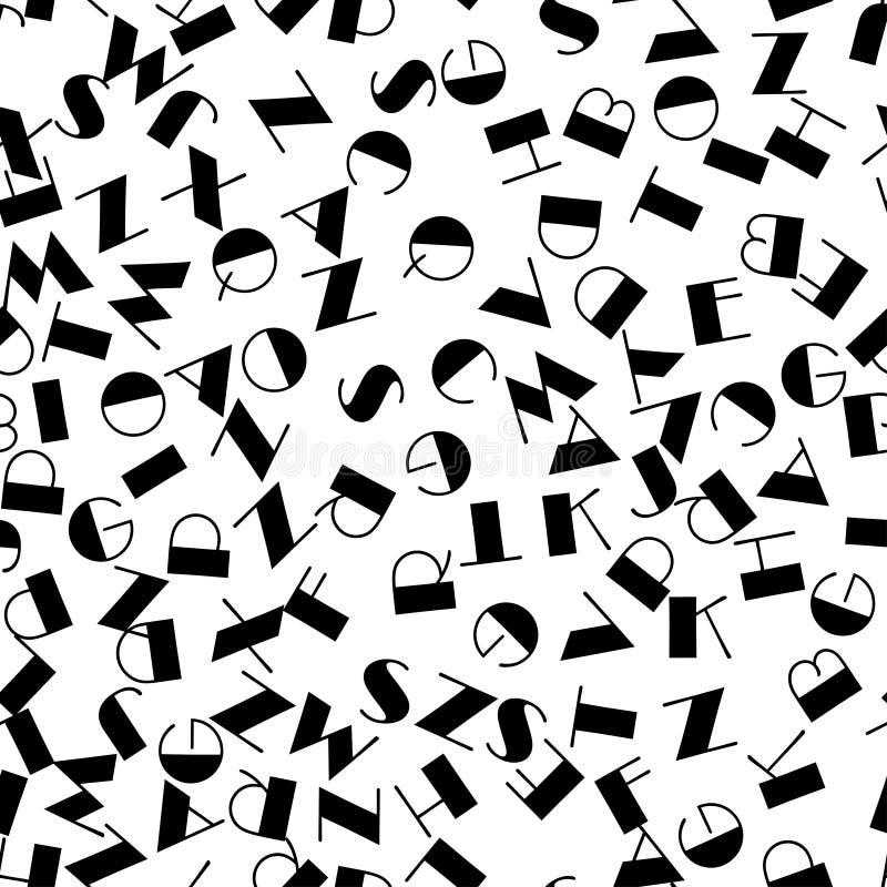 Fond sans couture de modèle d'alphabet illustration stock