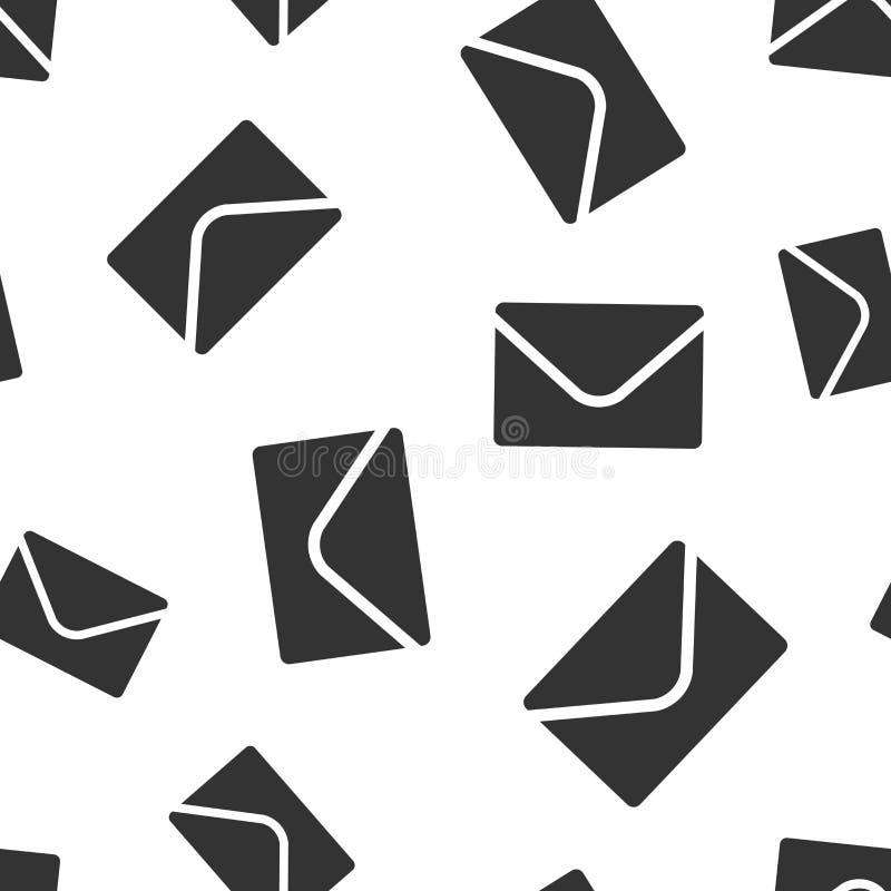 Fond sans couture de modèle d'icône d'enveloppe de courrier Recevez l'illustration de vecteur de Spam de lettre d'email Modèle de illustration stock