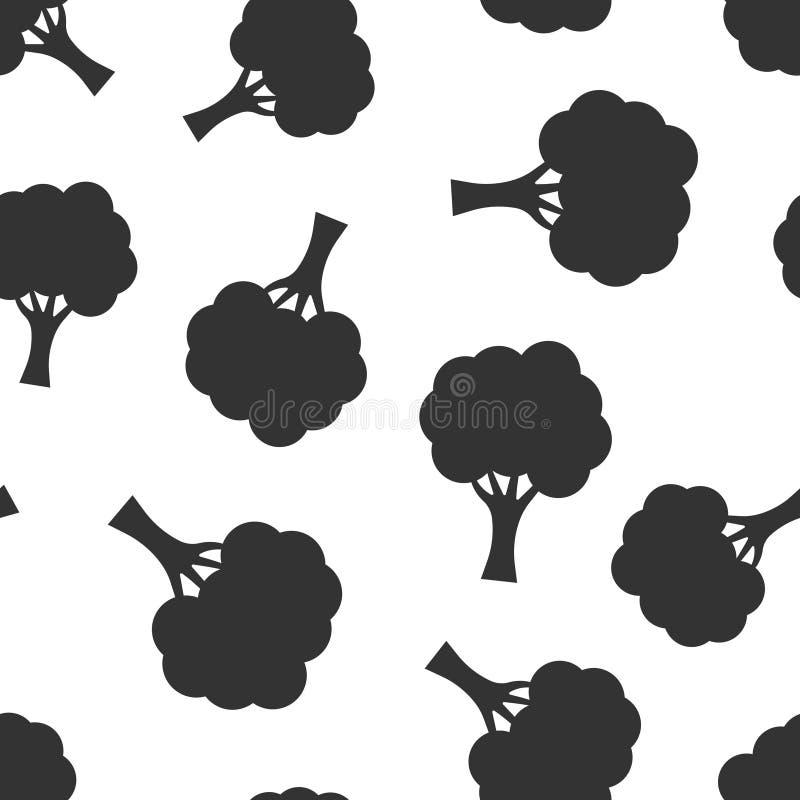 Fond sans couture de modèle d'icône de signe d'arbre Illustration de vecteur de for?t de branche sur le fond d'isolement blanc Af illustration de vecteur