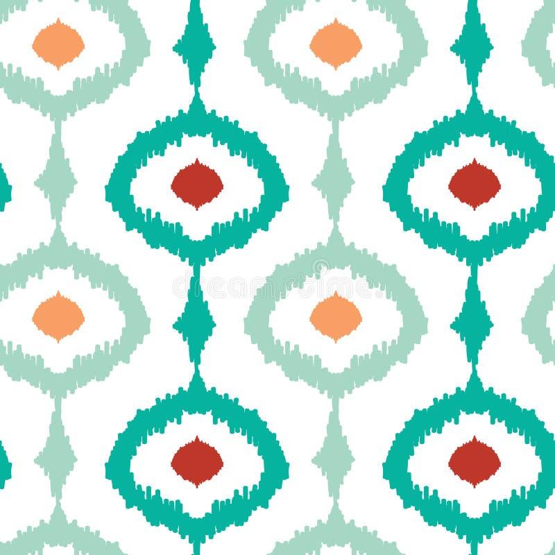 Fond sans couture de modèle d'ikat à chaînes coloré illustration de vecteur
