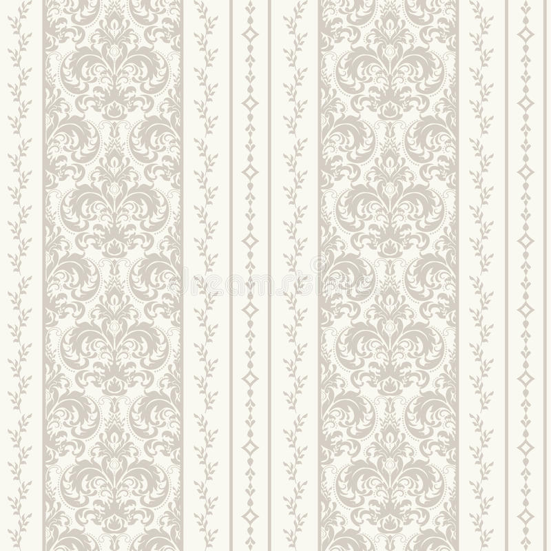 Fond sans couture de modèle de damassé Ornement démodé de luxe classique de damassé, texture sans couture de victorian royal illustration libre de droits