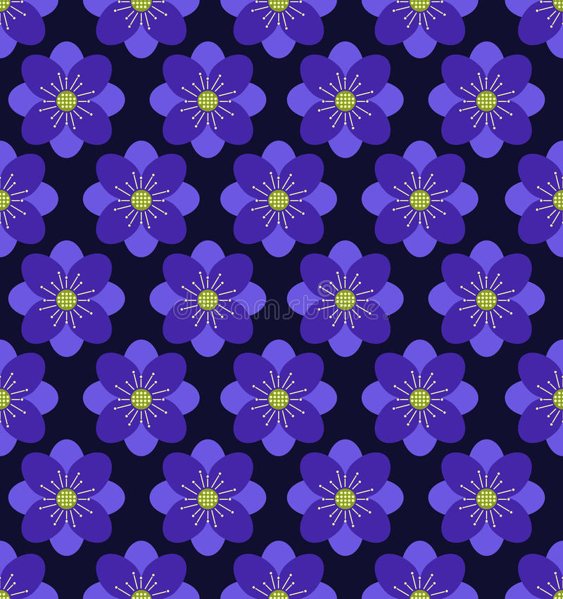 Fond sans couture de modèle de fleur, fond pourpre image stock