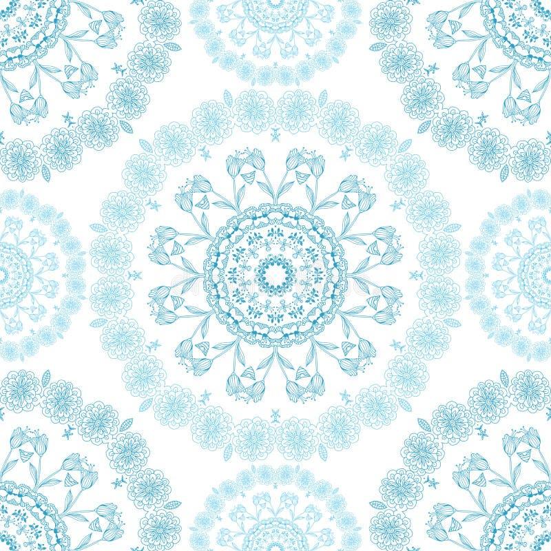 Fond sans couture de modèle de mandala Pour le fond ou la carte de sites Web, pour la conception, s'est associé à du yoga et à l' illustration de vecteur