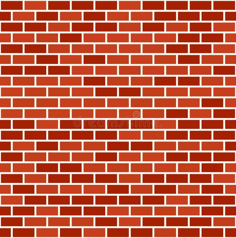 Fond sans couture de modèle de mur de briques illustration de vecteur