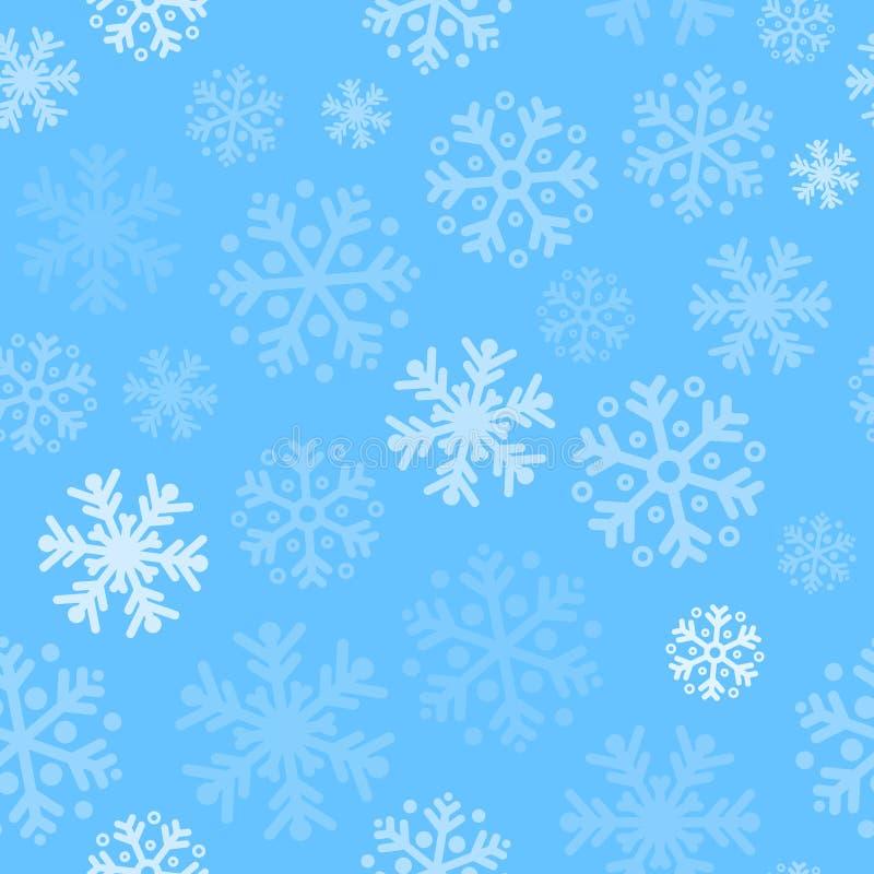 Fond sans couture de modèle de Noël abstrait avec des flocons de neige illustration libre de droits