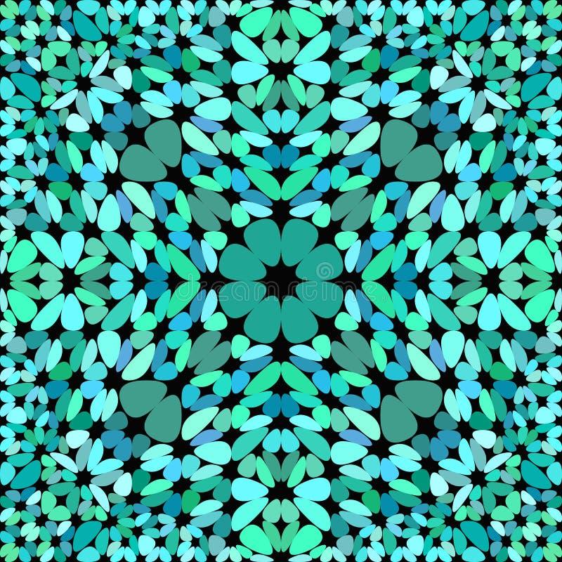 Fond sans couture de modèle de mosaïque de gravier de turquoise - ornement abstrait de vecteur illustration stock