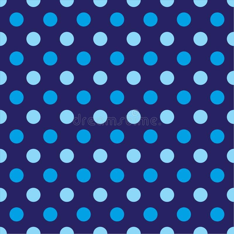 Fond sans couture de modèle de point de polka illustration libre de droits