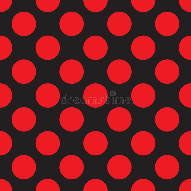 Fond sans couture de modèle de point de polka illustration de vecteur