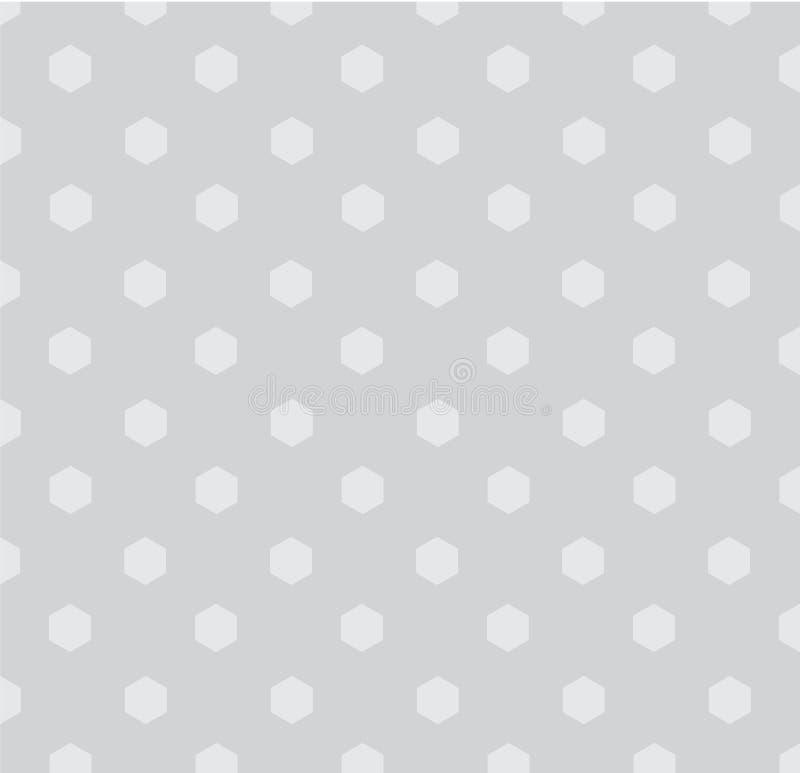 Fond sans couture de modèle de polygones de polka illustration de vecteur