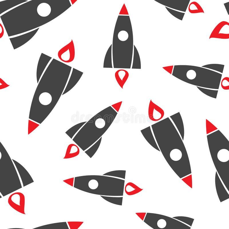 Fond sans couture de modèle de Rocket Illustr plat de vecteur d'affaires illustration de vecteur