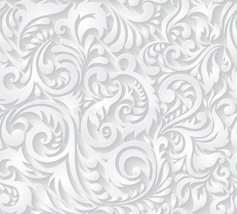 Fond Sans Couture Dans Le Style De Damas Illustration Stock - Illustration du fleuri, damassé ...