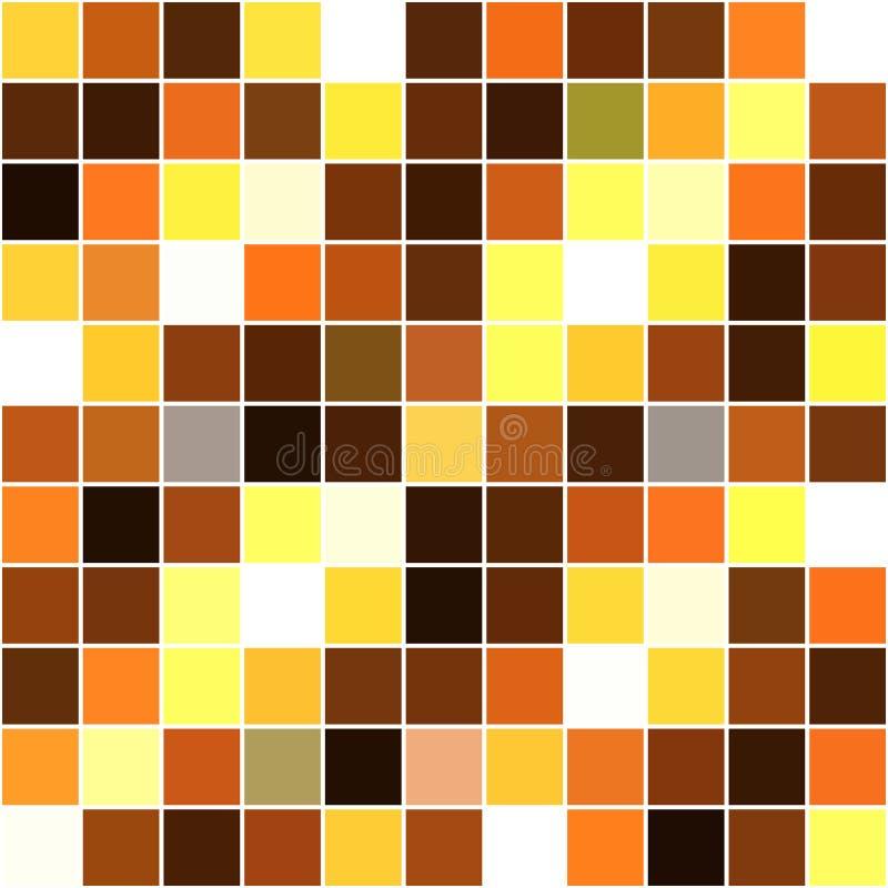 fond sans couture de mosaïque carrée jaune-blanc-brune illustration libre de droits