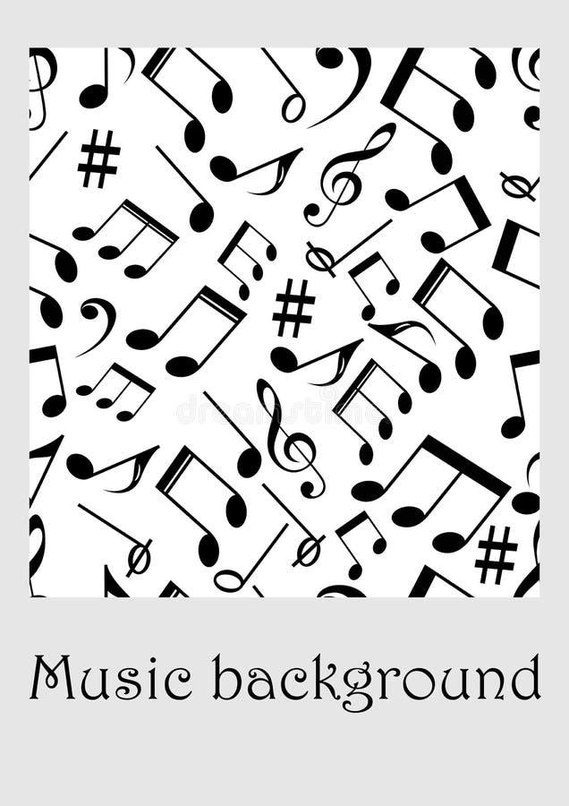 Fond sans couture de musique avec des notes illustration stock