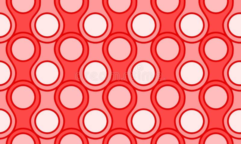 Fond sans couture de papier peint de cercles d'échelles illustration libre de droits